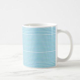 Non Classic Blue and White Stripes Coffee Mugs