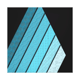 Non-Concentric Triangles Canvas Print