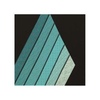 Non-Concentric Triangles Wood Art