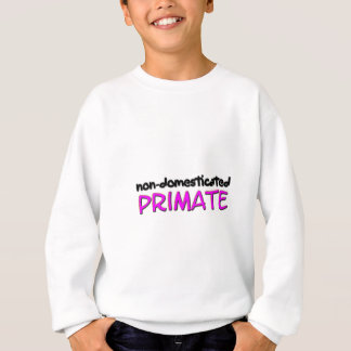 non-domesticated primate (1) sweatshirt
