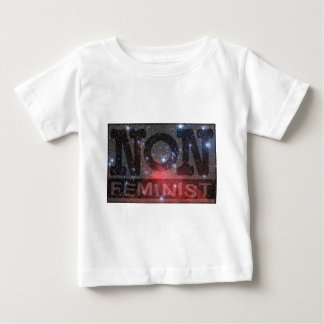 non-fem, red stars baby T-Shirt