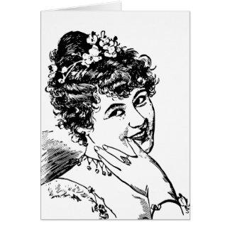 Non-flirting woman flirting sarcastic card