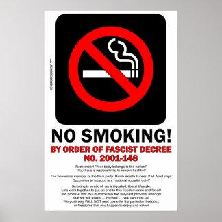 NON-FUMEURS ! - Par ordre du décret fasciste ! - A Poster