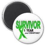 Non-Hodgkins Lymphoma 1 Year Survivor 2 Inch Round Magnet