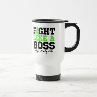 Non-Hodgkins Lymphoma Fight Like a Boss 15 Oz Stainless Steel Travel Mug