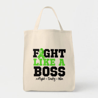 Non-Hodgkins Lymphoma Fight Like a Boss Grocery Tote Bag