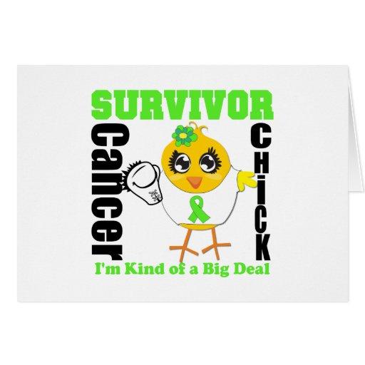 Non Hodgkins Lymphoma Survivor Chick Ribbon Greeting Card