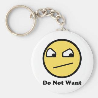 Non impressionnant ne voulez pas porte-clé rond