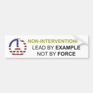 Non-Interventionism Bumper Sticker