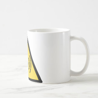 Non-ionizing radiation hazard coffee mug