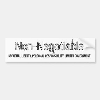 Non-Negotiable fundamentals of Liberty Bumper Sticker
