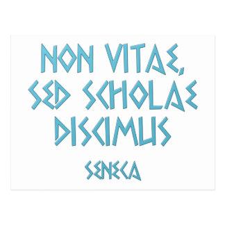 Non vitae sed scholae discimus Seneca Postcard