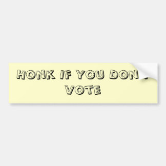 Non-Voter Bumper Sticker  (Noisy Version)