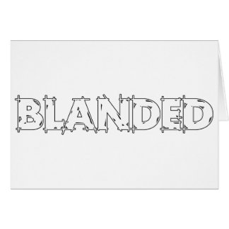 None Brand Blanded Slogan Card