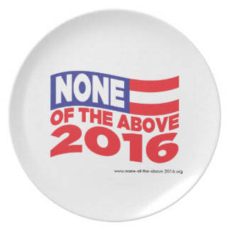 None of the Above 2016 Party Plates