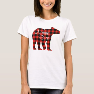 Nonna Bear plaid T-Shirt