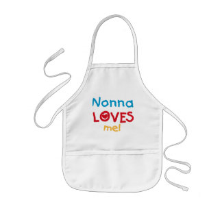 Nonna Loves Me T-shirts and Gifts Kids Apron