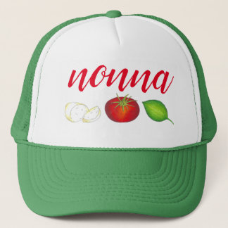Nonna Mozzarella Tomato Basil Italian Kitchen Food Trucker Hat