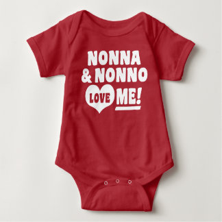 Nonna & Nonno Love Me Baby Bodysuit