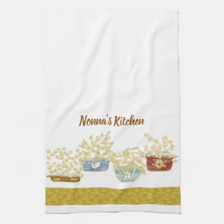 Nonna's Kitchen Customizable Towel With Pasta Bowl