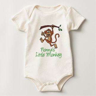 Nonna's Little Monkey Baby Bodysuit