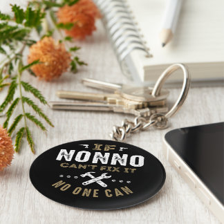 Nonno Can Fix It Basic Round Button Keychain