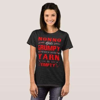 Nonno Gets Grumpy When Her Yarn Is Empty Tshirt