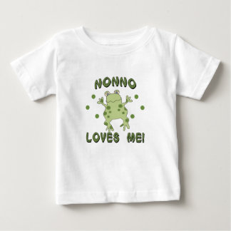 Nonno Loves Me Frog Baby T-Shirt