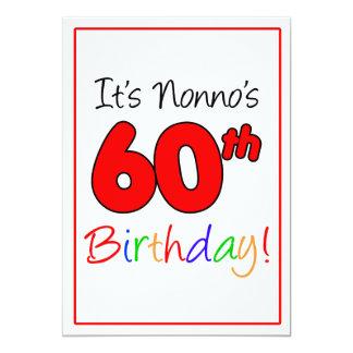 Nonno's 60th Milestone Birthday Party Celebration Card