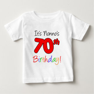 Nonno's 70th Birthday Baby T-Shirt