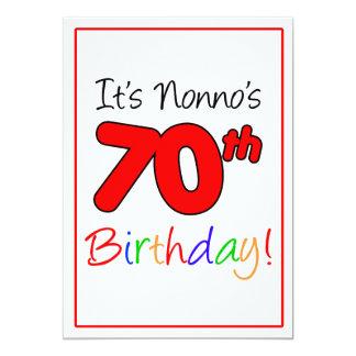 Nonno's 70th Milestone Birthday Party Celebration Card