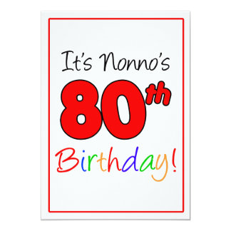 Nonno's 80th Milestone Birthday Party Celebration Card