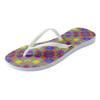 Nonobjective Color Pattern Flip Flops