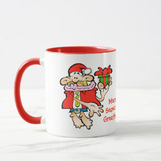Nonsensical Santa Merry Seasonal Christmas mug
