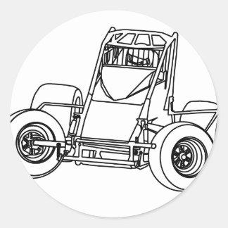 nonwing1.ai classic round sticker