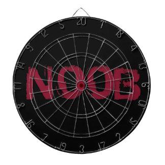 NOOB Text on black Dartboard