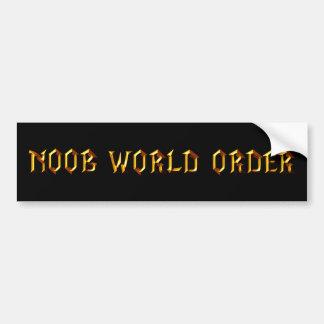 Noob World Order Bumper Sticker