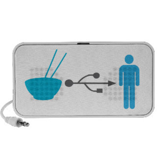Noodle efficiency input system iPod speakers