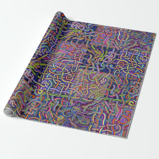 Noodles Maze Design Wrapping Paper