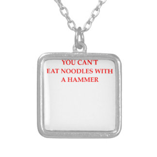 NOODLES SILVER PLATED NECKLACE