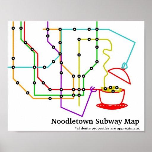 Noodles Underground Map Poster