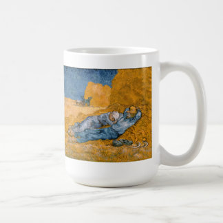 Noon, Rest From Work After Millet Vincent Van Gogh Coffee Mug
