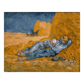 Noon, rest from work. Poster XXL Vincent Van Gogh