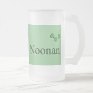Noonan Family Frosted Glass Beer Mug