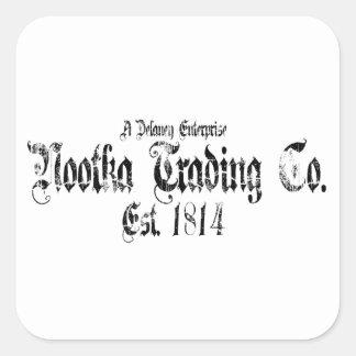 nootka trading square sticker