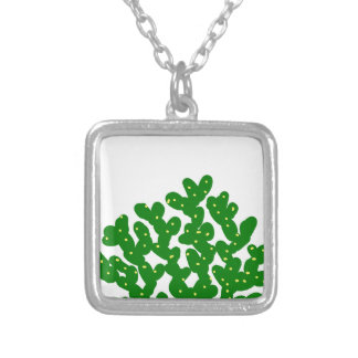 nopal silver plated necklace