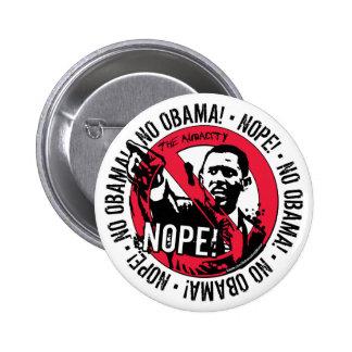 Nope Anti Obama Gear 08 Pins