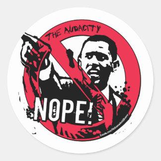 Nope Anti Obama Gear '08 Round Sticker