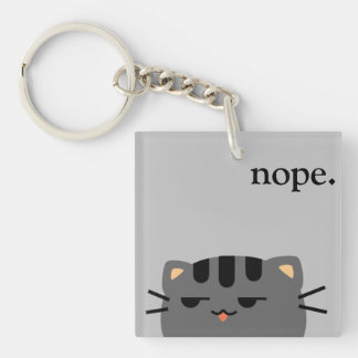Nope Kitty Keychain