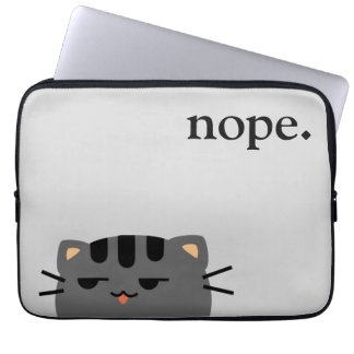 Nope Kitty Laptop Computer Sleeves